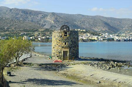 wind mill: Greece, Crete, wind mill in Elounda