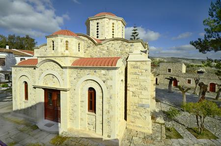 crete: Greece, Crete, monastery Angarathos Stock Photo