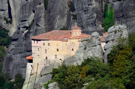 kalambaka: Greece, Meteora, monastery of Saint Barbara Roussanou Editorial