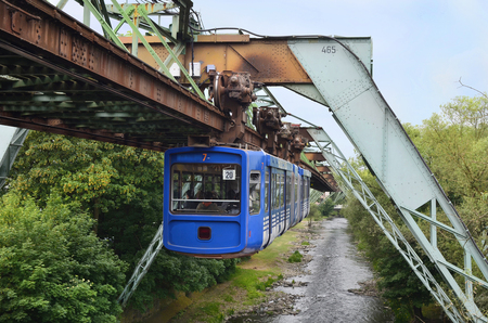 Wuppertal, Germany - May 27th 2011: overhead track as public transport vehicle