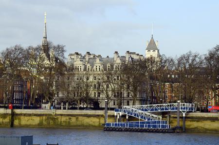 great britain: Great Britain, London, buildings and Blackfriars pier Editorial