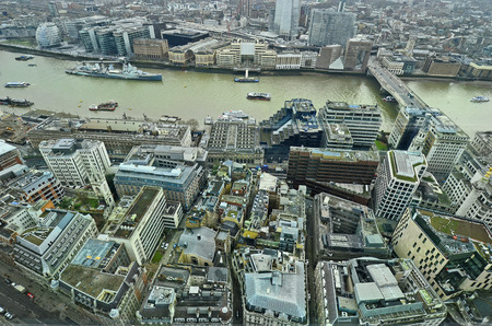 hms: Great Britain, aerial view city of London