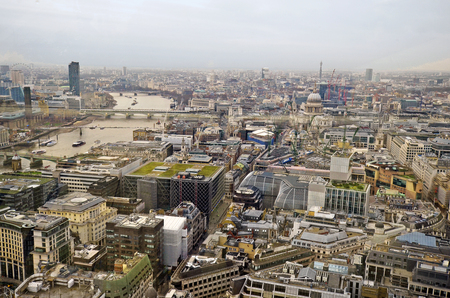 aerial view city: Great Britain, aerial view city of London