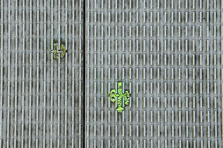 wilson: London, United Kingdom - January 17th 2016: Miniature paintings on bottom of footh path of Millennium bridge made from chewing gum by artist Ben Wilson