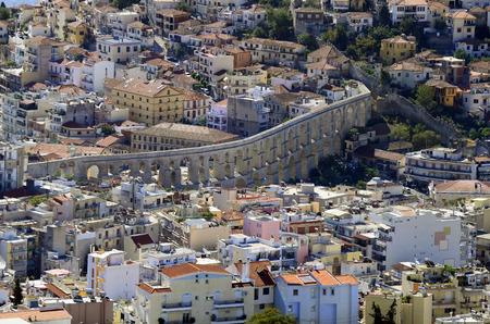 aqueduct: Greece, Kavala, medieval aqueduct Kamares Stock Photo