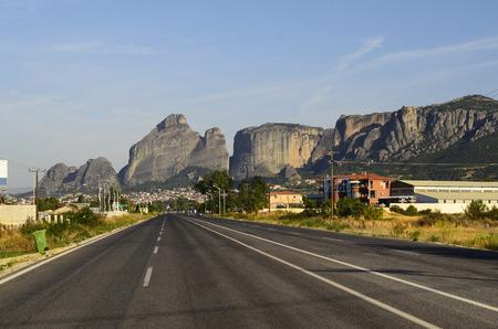kalambaka: Greece, Kalambaka village and rocks of Meteora