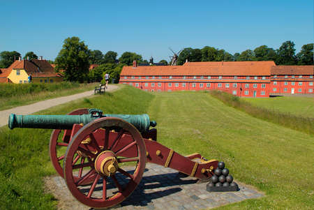 copenhagen: Denmark, old canon and castell in Copenhagen