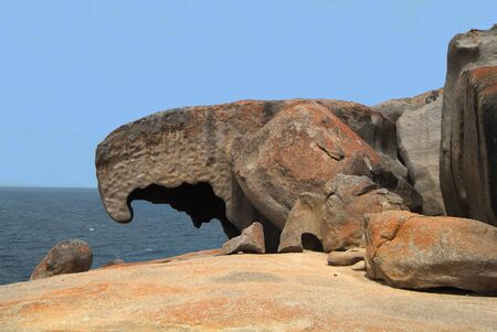 rock formation: Australia, The Remarkables rock formation on Kangaroo Island, Eagle Rock and Eagle Egg
