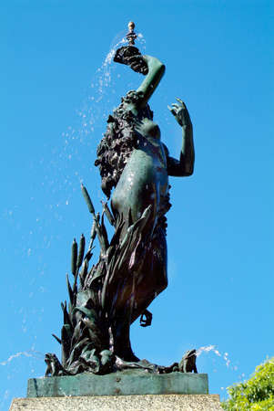 levy: Australia, Lewis Wolfe Levy fountain with sculpture in public royal botanical garden in Sydney