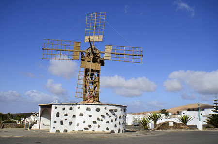 lanzarote: windmill in Teguise, Lanzarote, Canary Island, Stock Photo