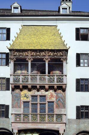 tyrol: Austria, Golden Roof the landmark of Innsbruck, Tyrol Stock Photo