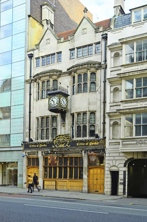 yorke: London, United Kingdom - January 19th 2016: Traditional pub Cittie of Yorke on High Holborn street