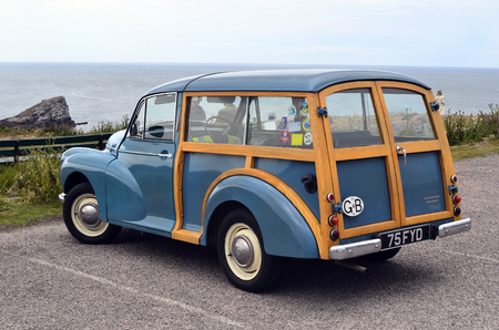 morris: France, Brittany, vintage car Morris Minor Woodie Editorial