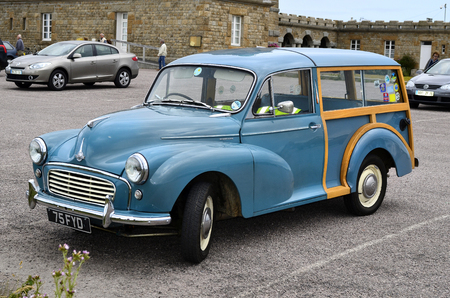 morris: France, vintage car Morris Minor Woodie Editorial