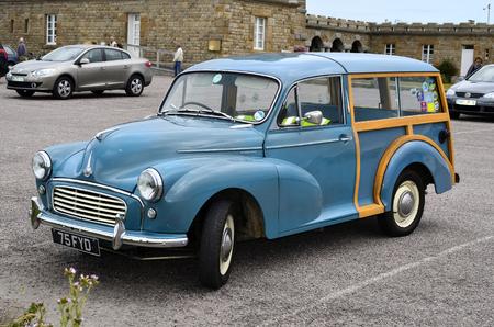 minor: France, vintage car Morris Minor Woodie Editorial