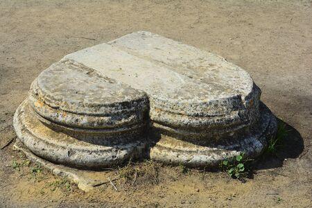 looking in corner: Cyprus, heartlike looking corner stone in ancient Salamis