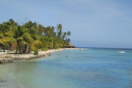 Fiji, beach on Malolo Lailai island