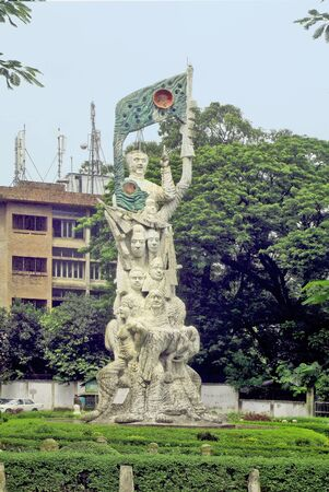 dhaka: Bangladesh, memorial for freedom fighters on Dhaka University campus Editorial