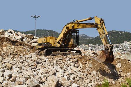 bagger: Greece, Kavala, mechanical dredger