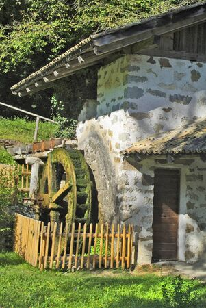tiers: Italy, water mill in Tiers