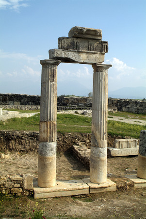 unesco world heritage site: Turkey, Unesco World Heritage site of Hierapolis Stock Photo