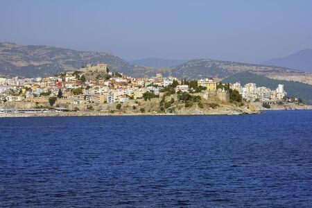 mediterranean homes: Greece, Kavala, Panaghia peninsula with homes, Imaret