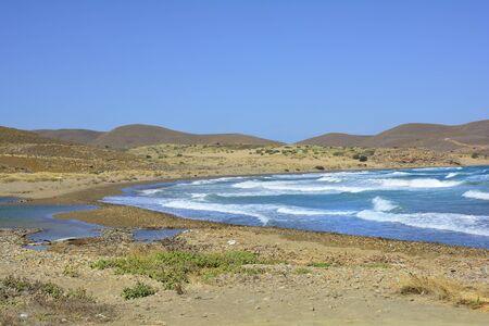 paisaje mediterraneo: Grecia, cabo Akrotiri, en la isla de Lemnos
