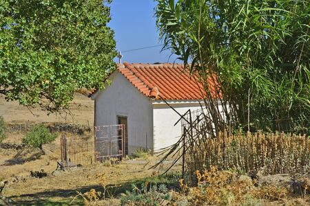 rural area: Greece, small chapel in rural area on Lemnos Island