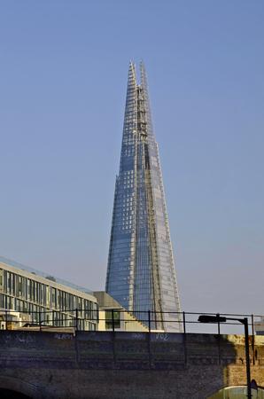 sky scraper: London, United Kingdom - January 19th 2016: The Shard sky scraper, highest building from London