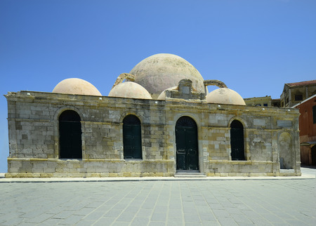 pascha: Greece, Crete, Chania, Janissaries mosque ake Hassan Pascha mosque Stock Photo