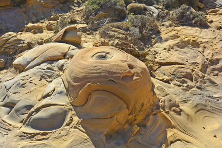 volcanic: Greece, volcanic rocks on Lemnos Island
