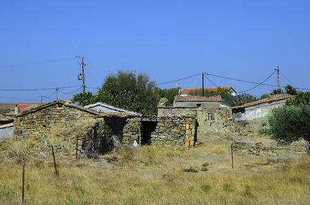 homestead: Greece, abandoned homestead in rurla village in Lemnos island