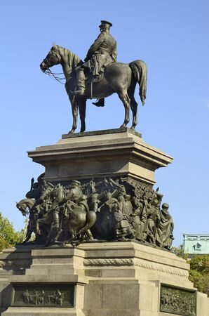 the liberator: Sofia, Bulgaria: Monument of Tsar Alexander II on square Narodno Sabranie - aka monument Tsar Liberator, erected in honour of Russian Emperor Alexander II who liberated Bulgaria of Ottoman rule in 19th century Stock Photo