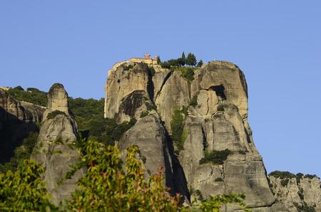 kalambaka: Greece, Meteora, Monastery of Saint Stephans on the top of Meteora rocks