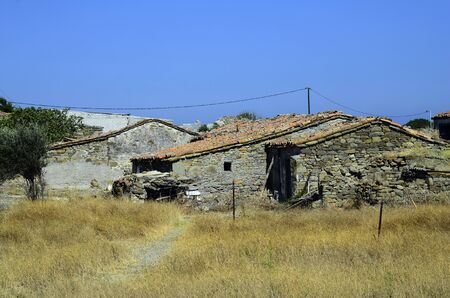 homestead: Greece, abandoned homestead on Lemnos island