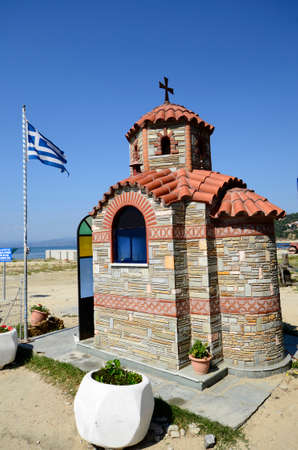Greece, small chapel in Ouranoupoli Stock Photo