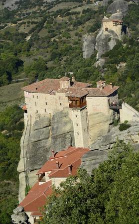 thessaly: Greece, Meteora, monasteries Royssanou and St. Nikolaos Anapafsas Editorial