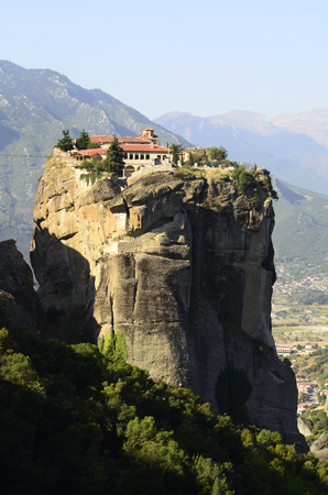 kalambaka: Greece, Meteora, Monastery Agia Triada Editorial
