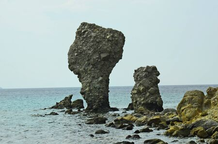 rock formation: Greece, rock formation in Agios Ioannis on Lemnos Island
