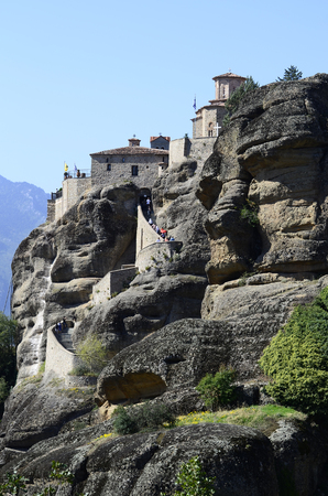 metamorphosis: Greece, Meteora, Monastery Great Meteoron - Metamorphosis Stock Photo