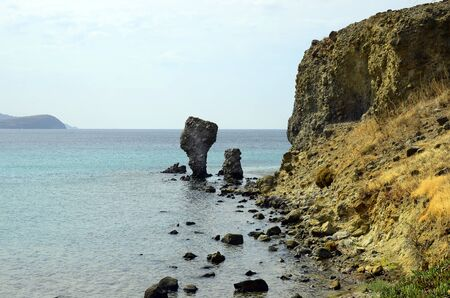 rock formation: Greece, rock formation in Agios Ioannis on Lemnos Island