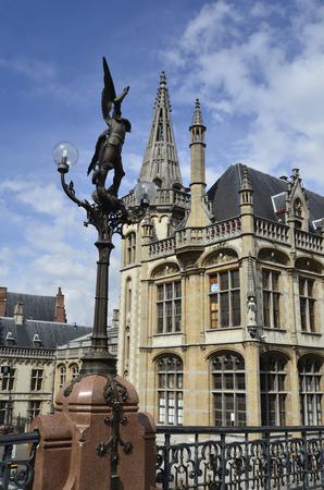 st  michel: Belgium, Ghent, statue of St. Michel