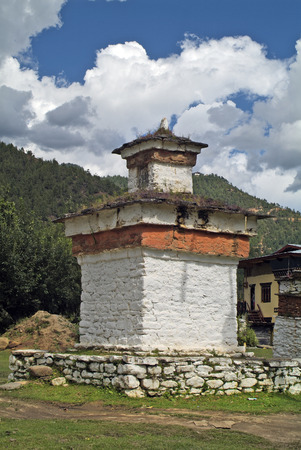 bhutan: Bhutan, chorten in Paro valley