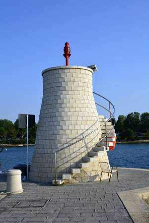 spiral staircase: Croatia, Savudrija, lighhouse with outside spiral staircase