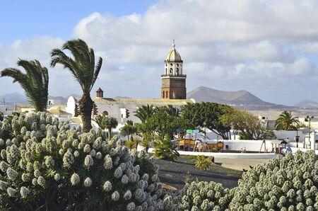 lanzarote: Spain, Lanzarote, Canary Iceland, Church Iglesia de Nuestra Senora de Guadalupe, Stock Photo