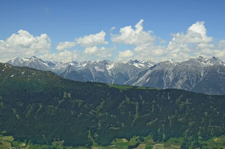 tyrol: Austria, Tirol, landscape with Austrian alps in Pitztal, Tyrol