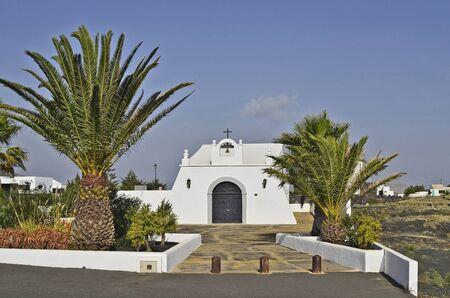lanzarote: small chapel in Masdache, Lanzarote Stock Photo
