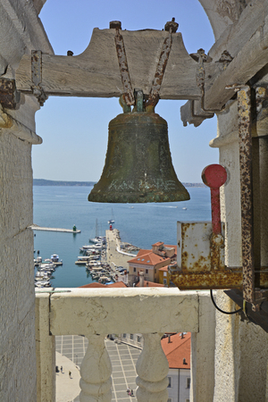 belltower: Slovenia, Piran, view from accesible belltower of St. George church
