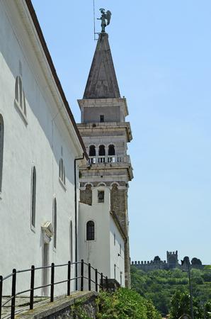 george: Slovenia, Piran, bell tower of St. George church