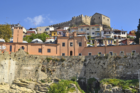 Greece, Kavala, Imaret, part of citywall and medieval fortress in Panagia precinct